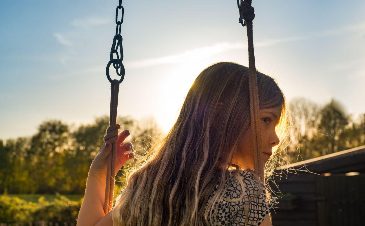 "Free photo ""Firl on a swing"""