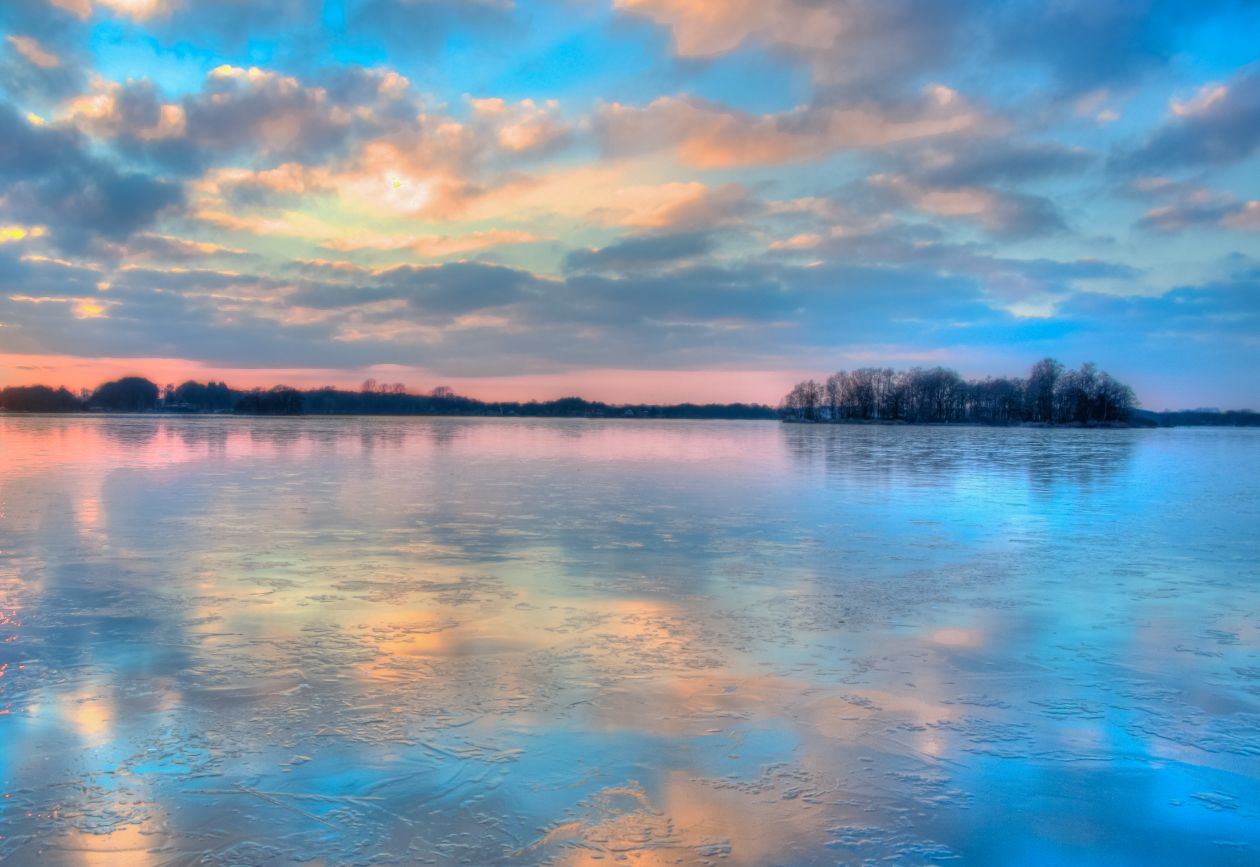 "Free photo ""Icy sunset"""