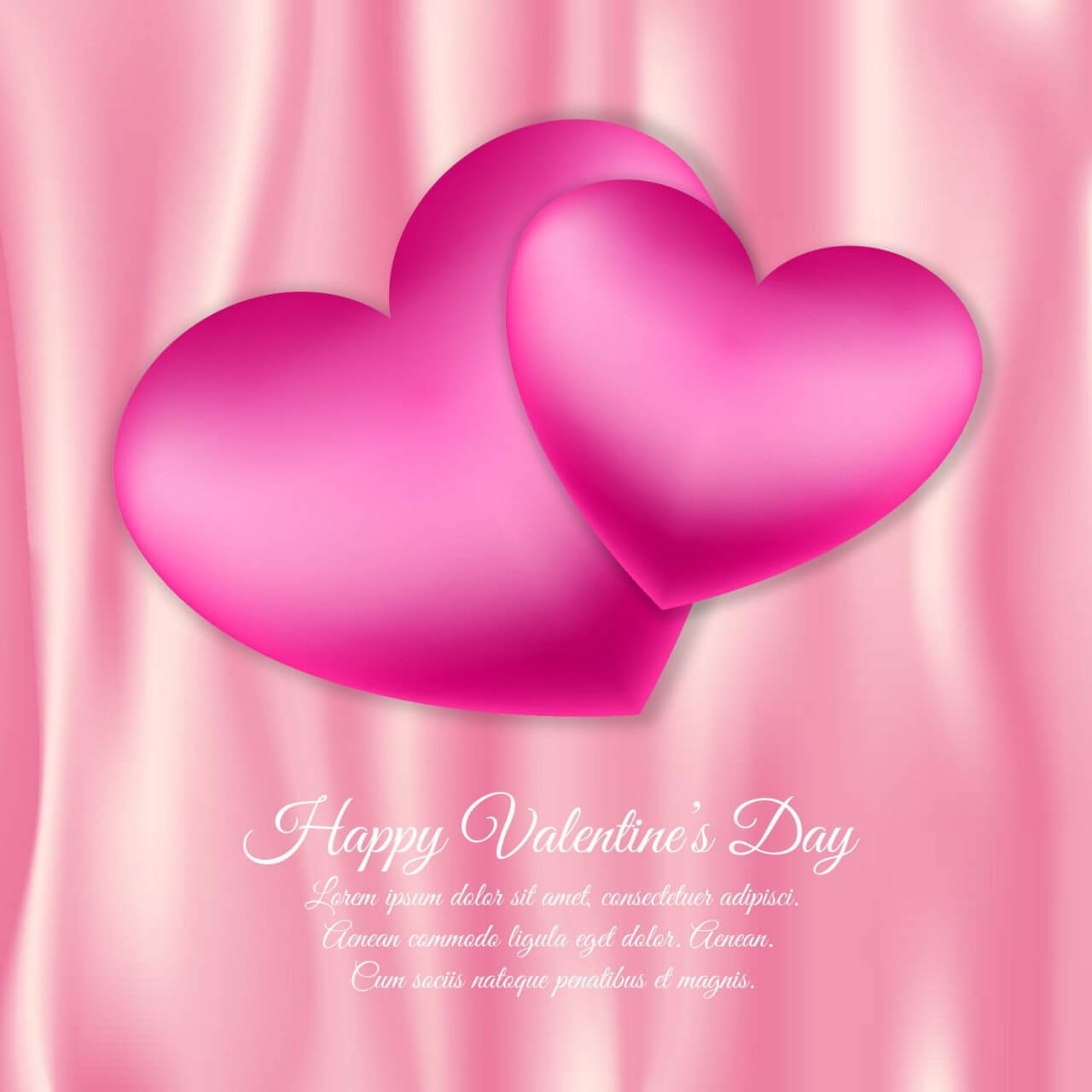 "Free vector ""Valentine's day vector illustration with hearts"""