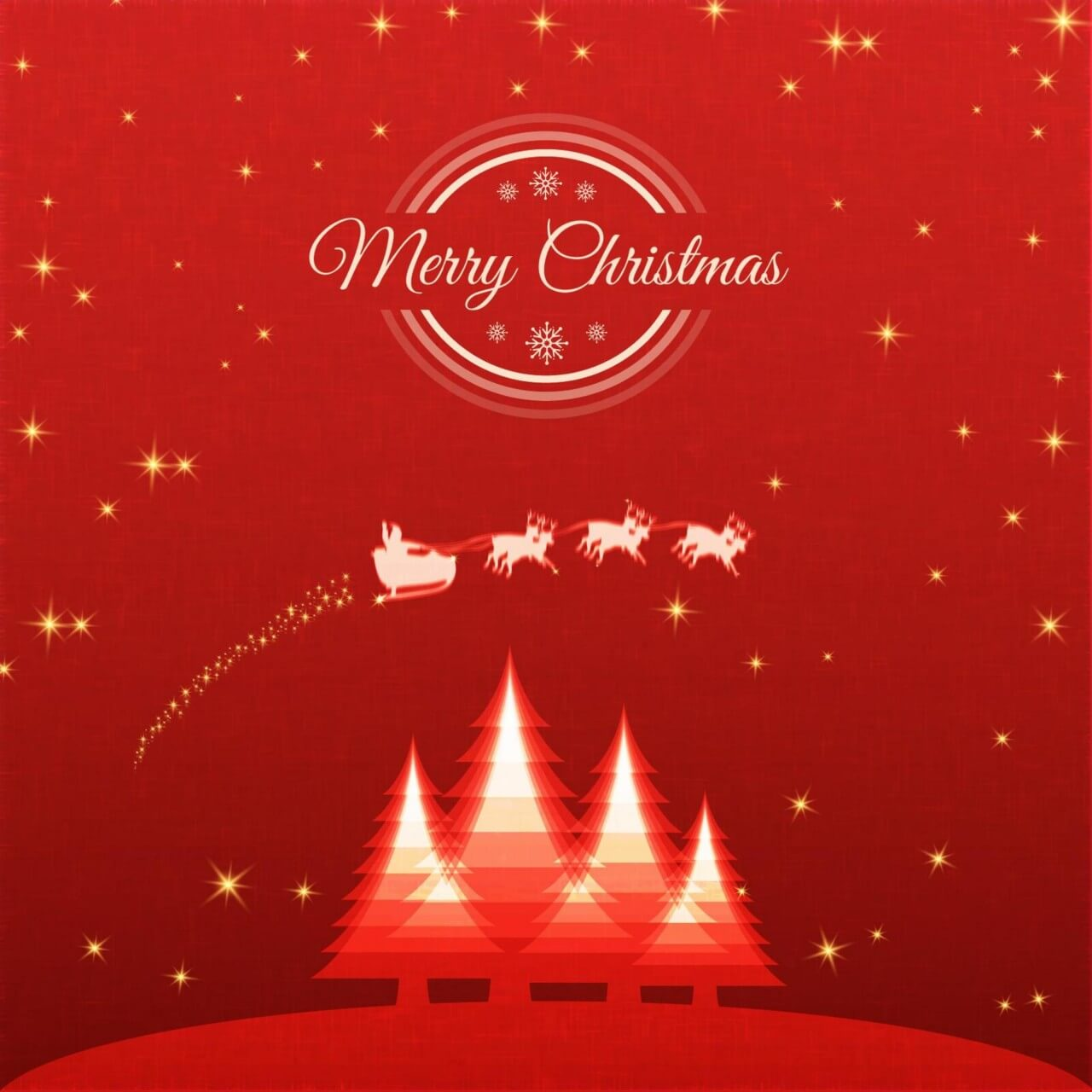 "Free vector ""Christmas background with santa and sledge"""
