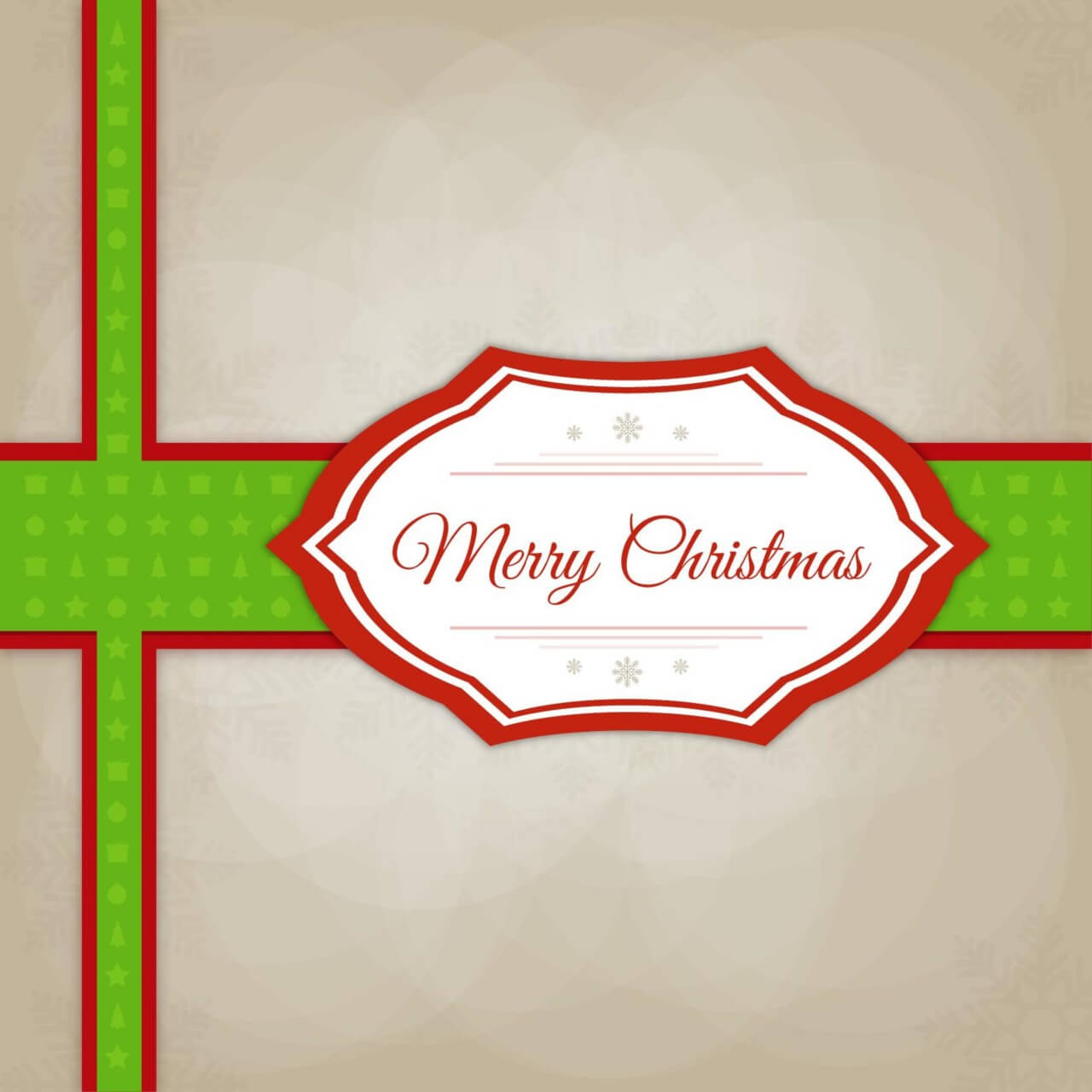 """Free vector """"Christmas vector illustration with label"""""""