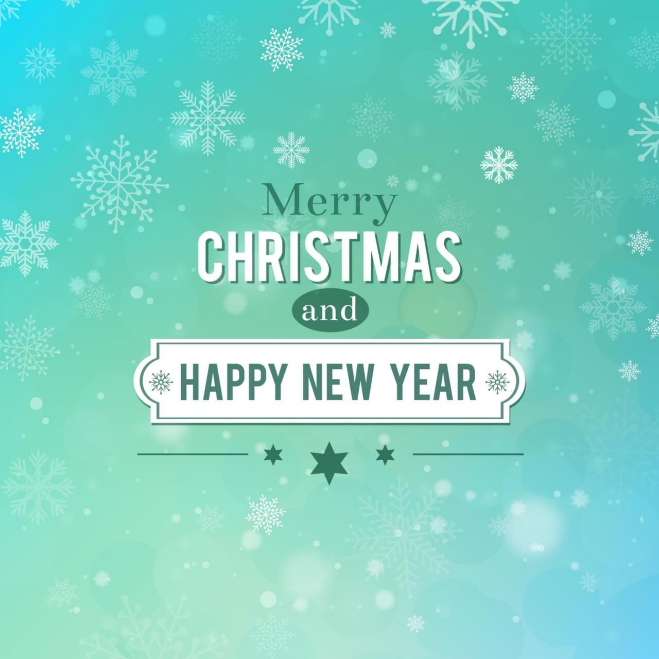 """Free vector """"Christmas background with typography"""""""