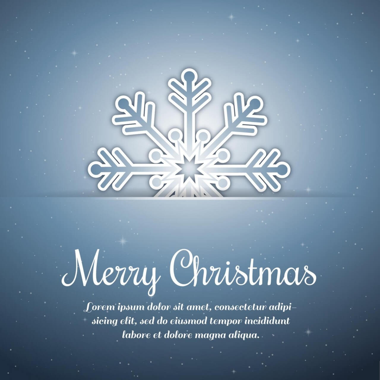 """Free vector """"Christmas background with typography and snow flake"""""""