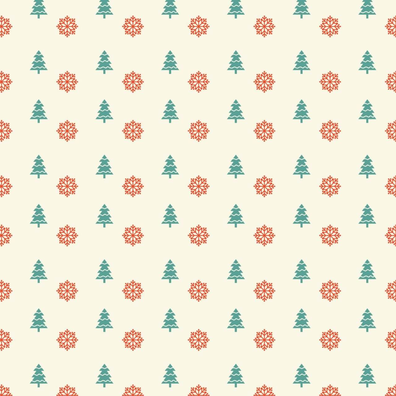 "Free vector ""Christmas pattern with snowflakes and christmas tree"""
