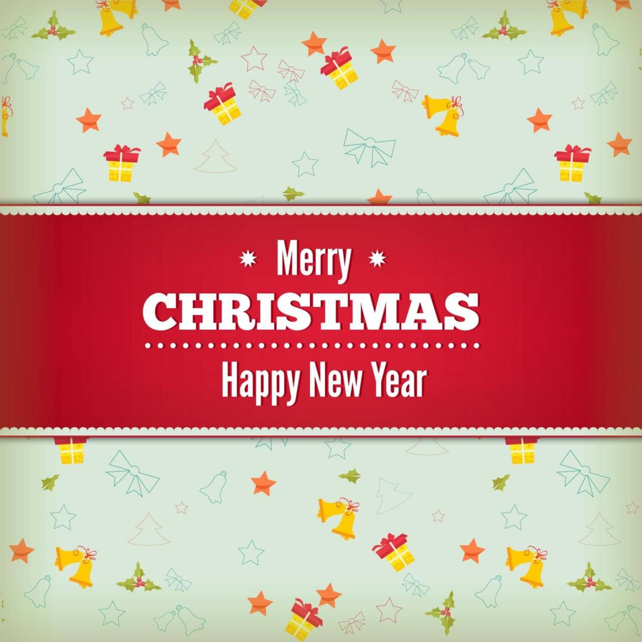 "Free vector ""Christmas background with typography"""