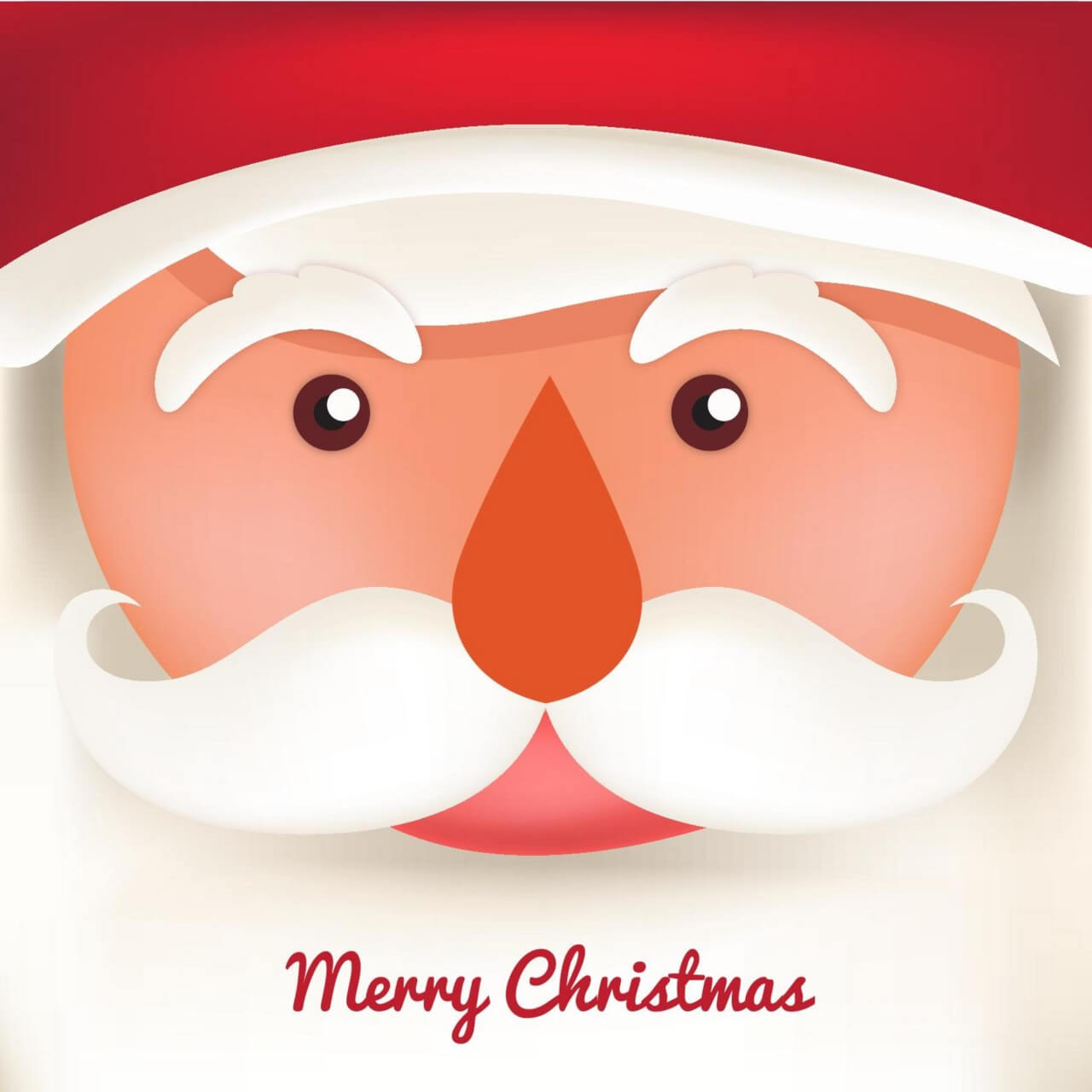 """Free vector """"Christmas background with typography and santa"""""""