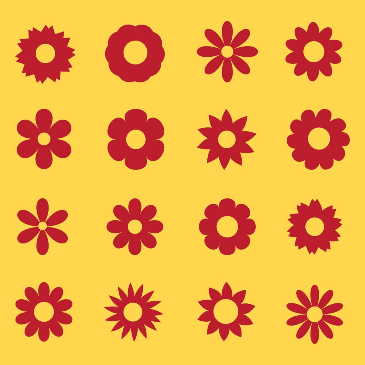 "Free vector ""Flowers vector set"""