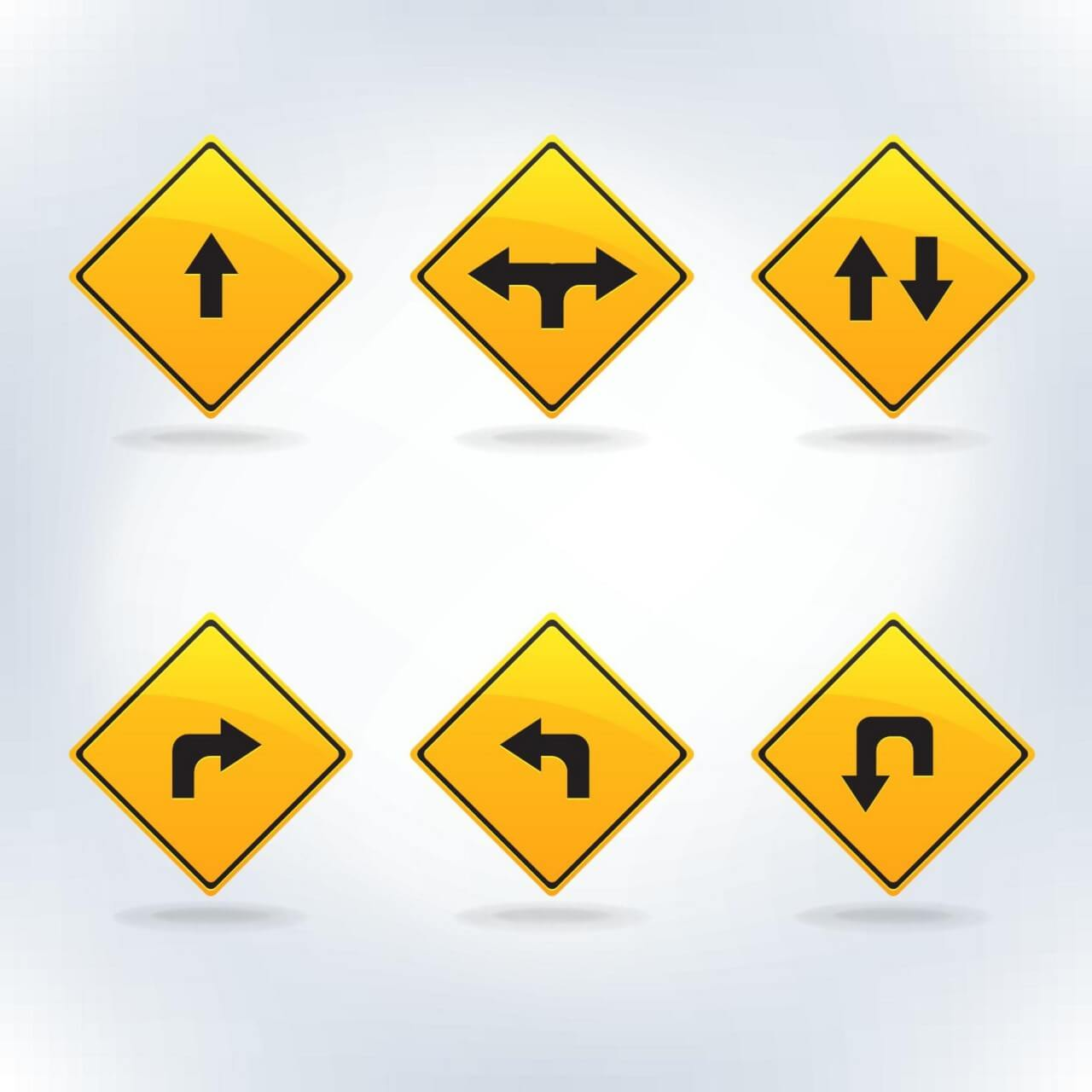 "Free vector ""Traffic signs set"""