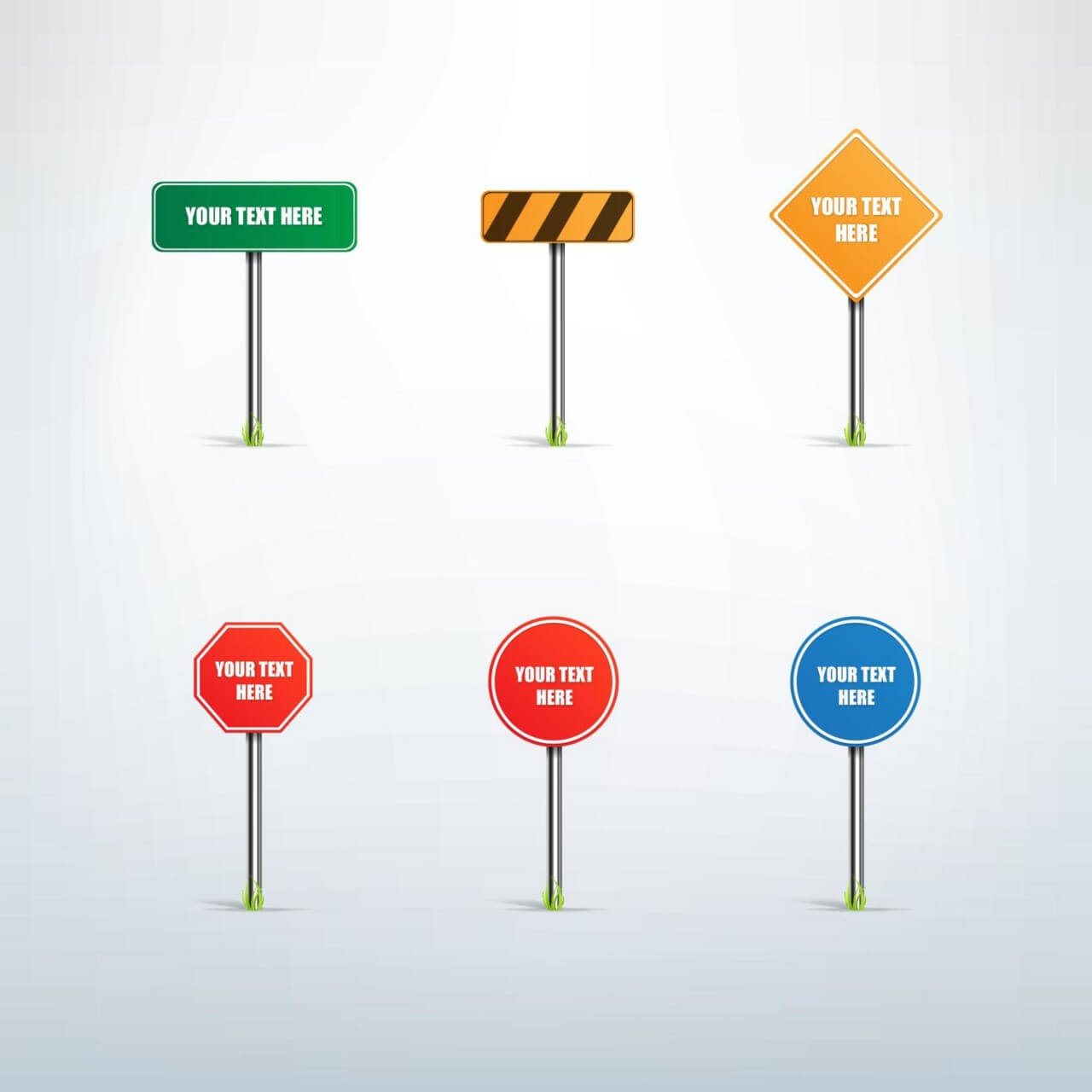"Free vector ""Traffic sign vector set"""