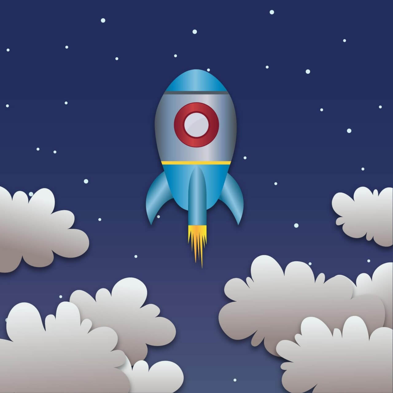 "Free vector ""Space rocket launch"""