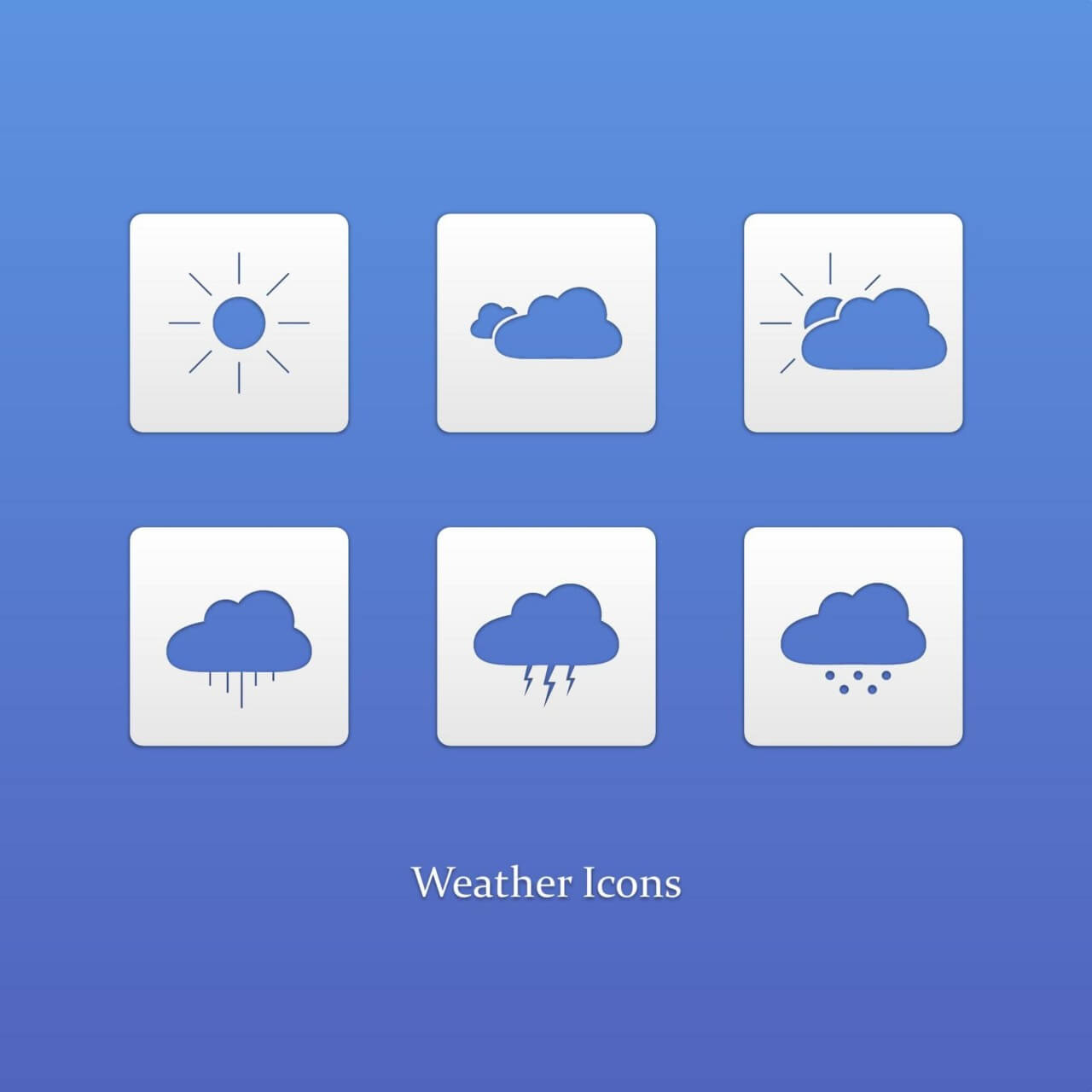 "Free vector ""Weather icons"""