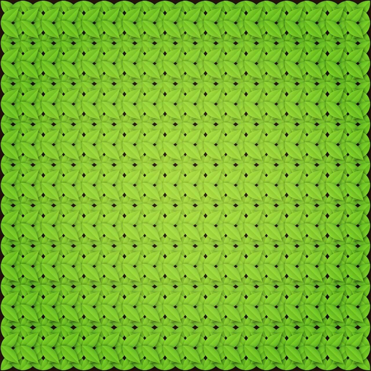 "Free vector ""Green leaves pattern"""