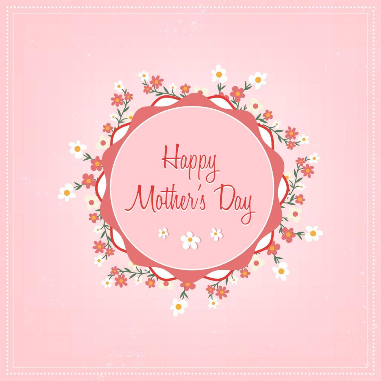 "Free vector ""Mother's day floral illustration"""