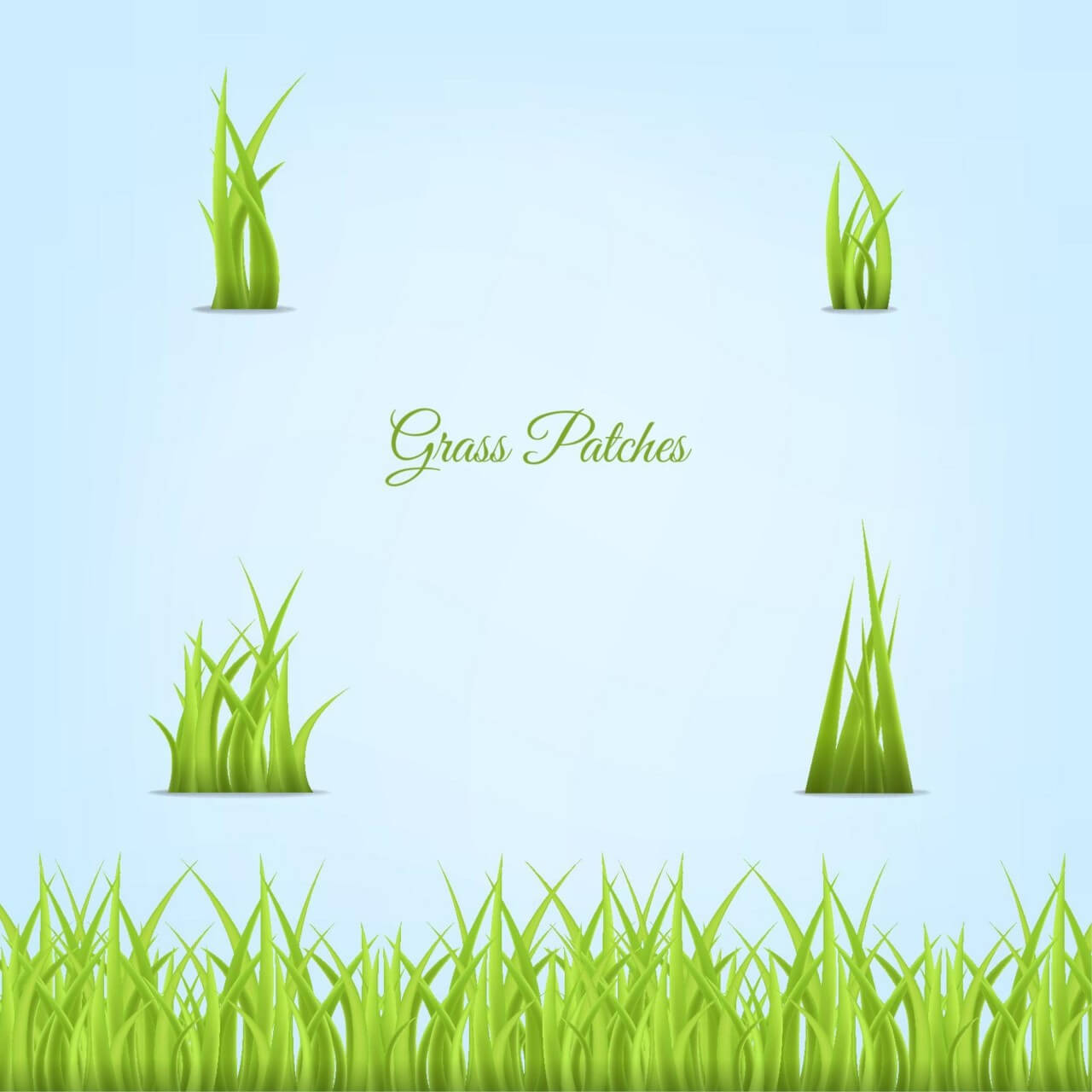"""Free vector """"Grass Patches"""""""