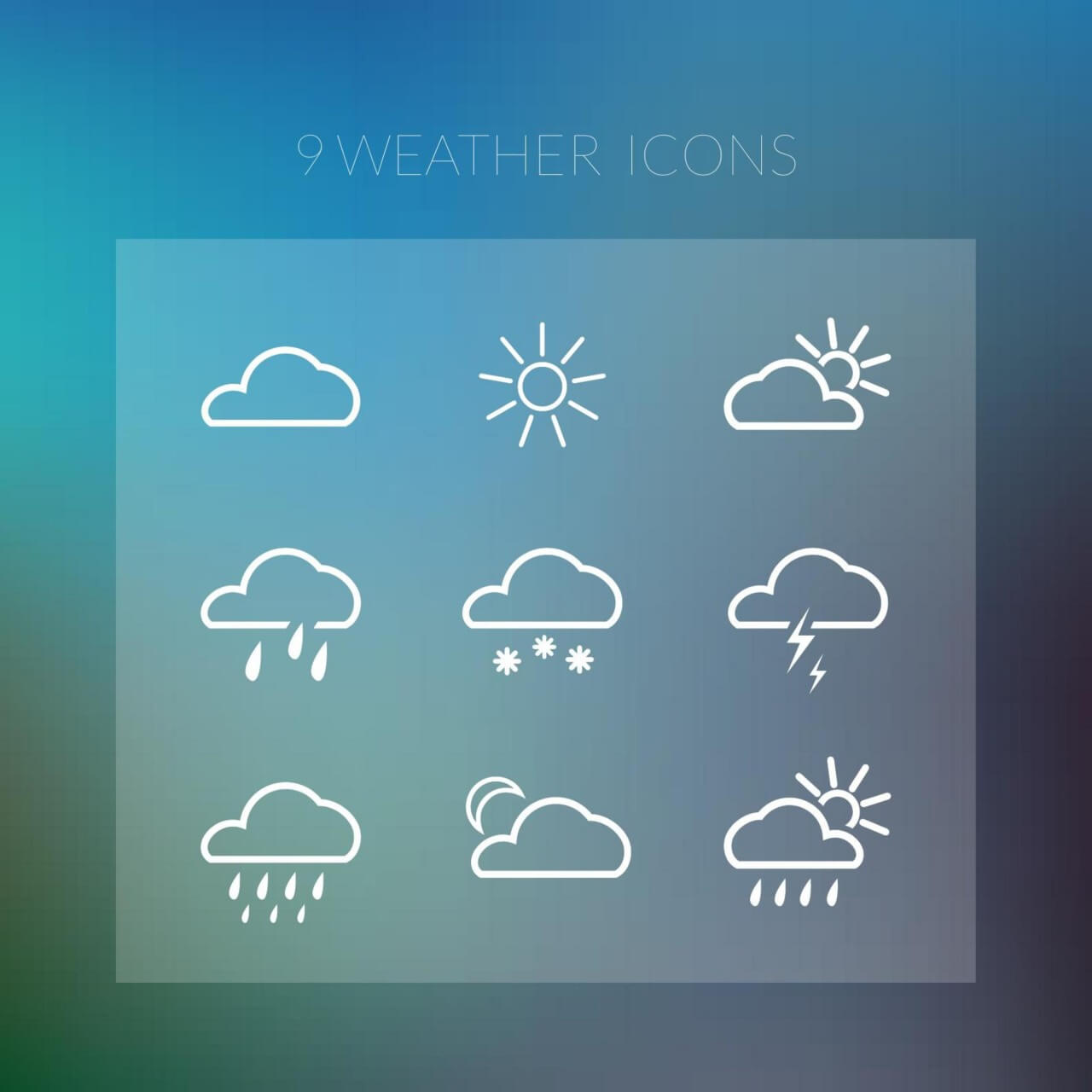 """Free vector """"Weather icons"""""""