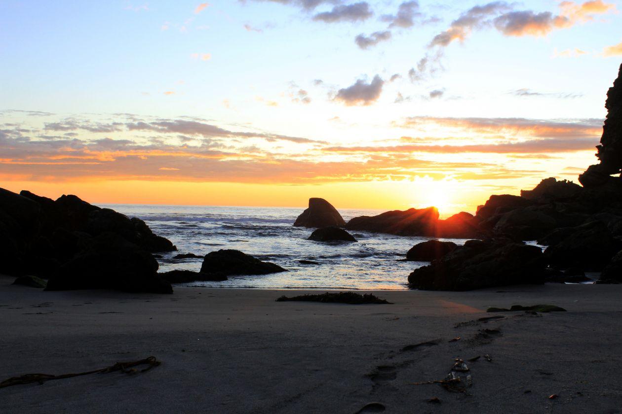 """Free photo """"Beach Sunset"""""""