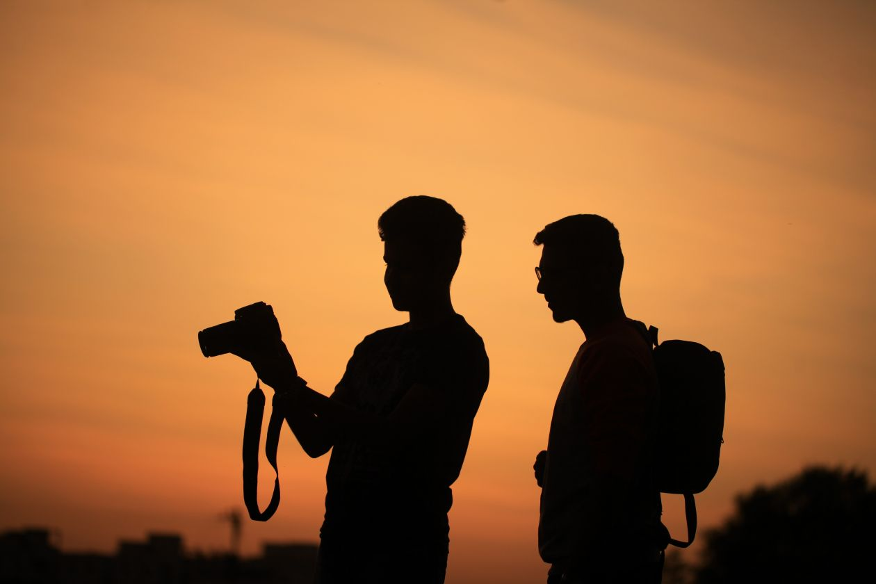 "Free photo ""Sunset with best friend"""