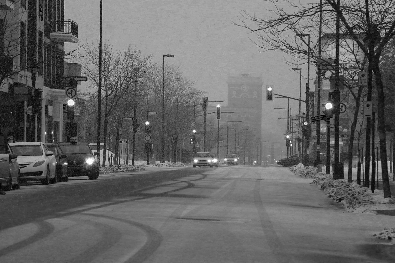 "Free photo ""Snowy Darky Urban Street Mornings"""