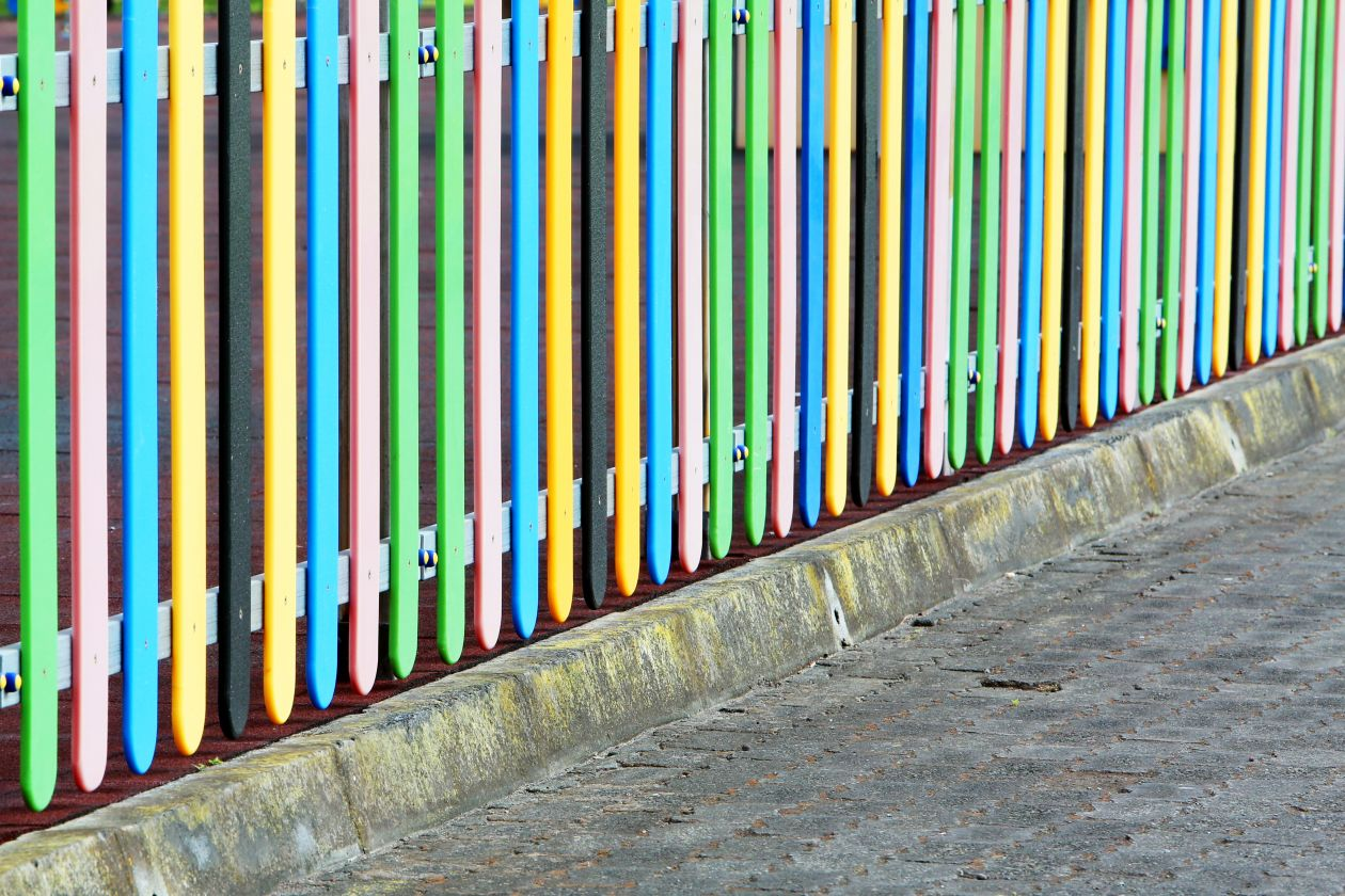 """Free photo """"Colorful Fence"""""""