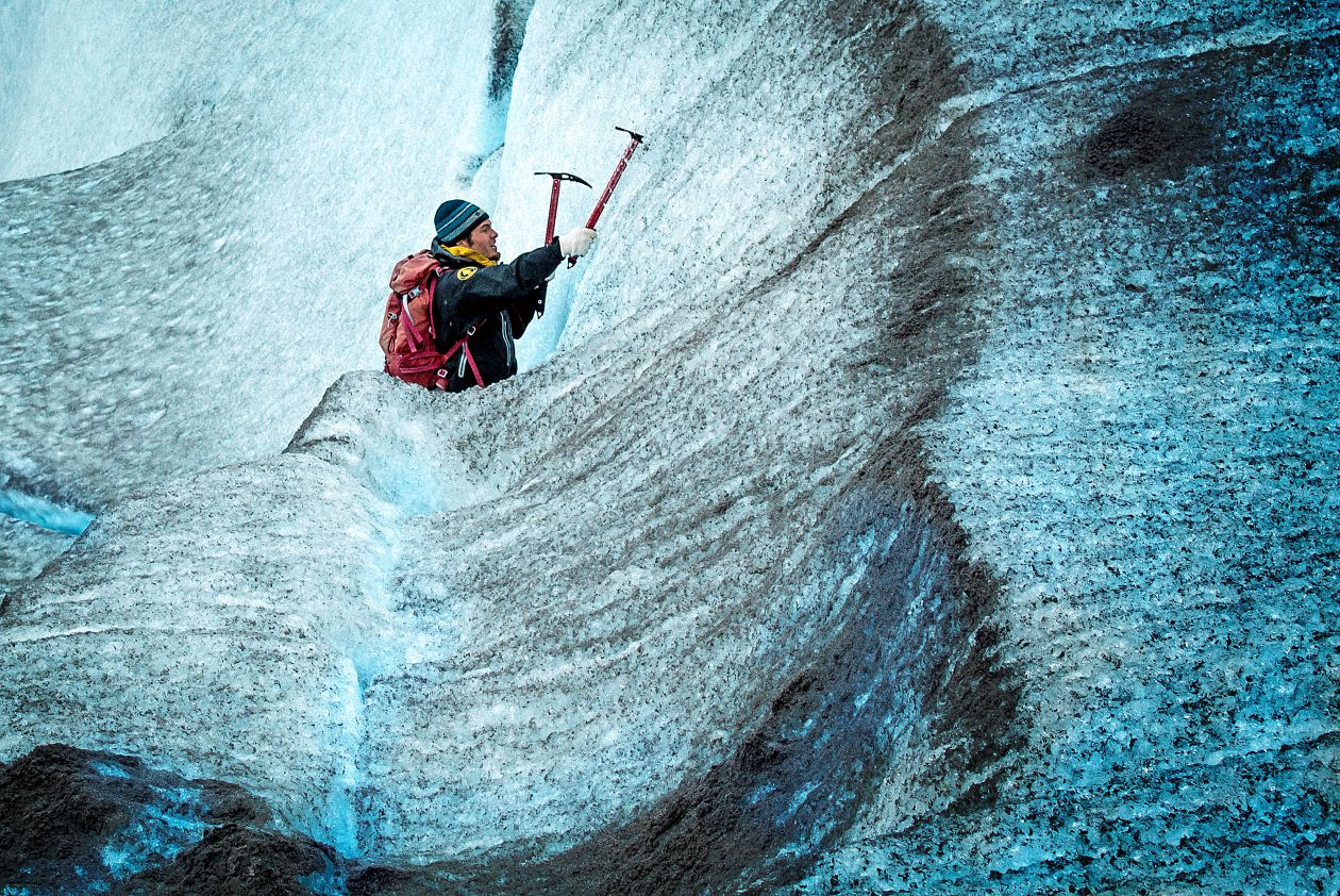 "Free photo ""Climbing Ice"""