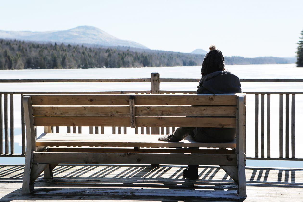 "Free photo ""Woman on Bench"""