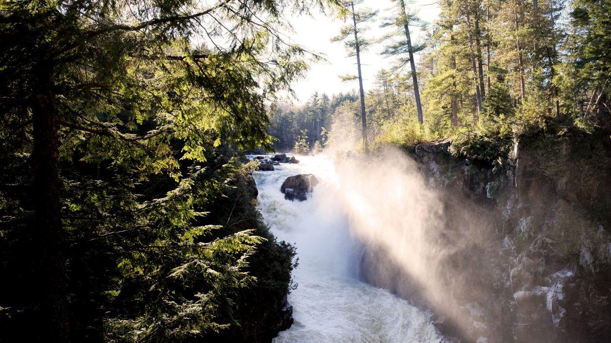 "Free photo ""Sunny Waterfall"""