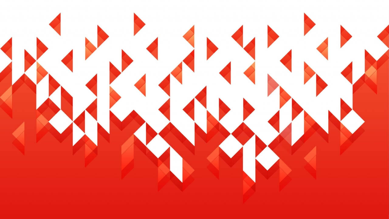 """Free vector """"Dissolving Red Triangles"""""""