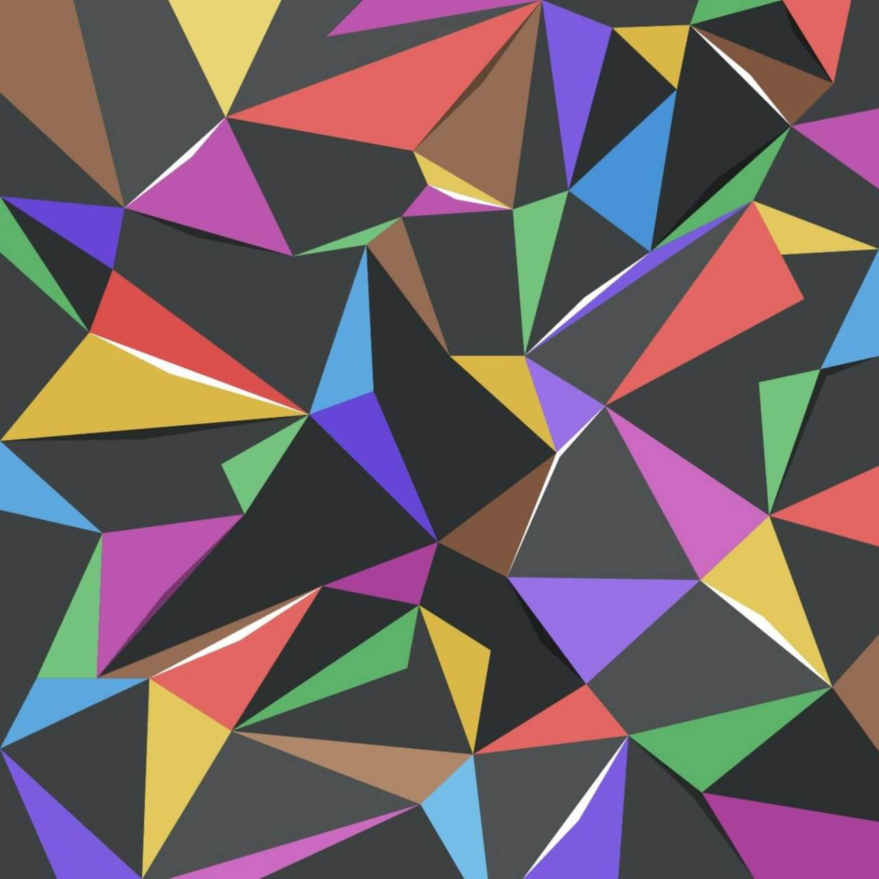 "Free vector ""Colorful Triangles"""