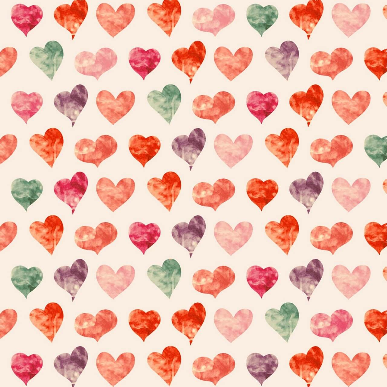 "Free vector ""Watercolor pattern with hearts """