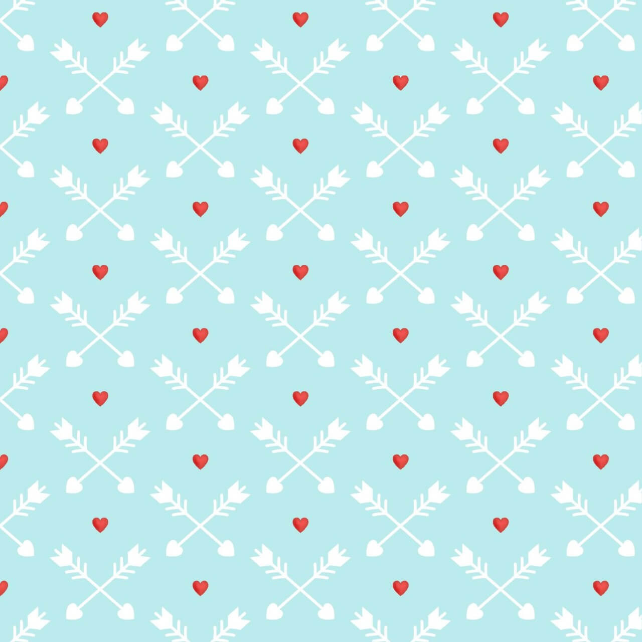 """Free vector """"Love pattern with red hearts and arrows"""""""