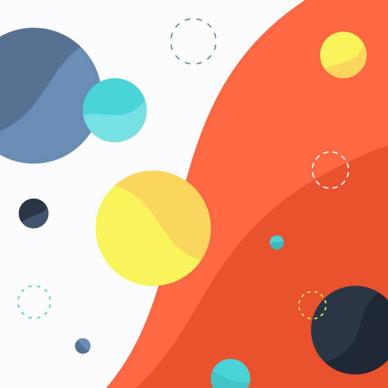 "Free vector ""Colorful Circles on Wave Background"""