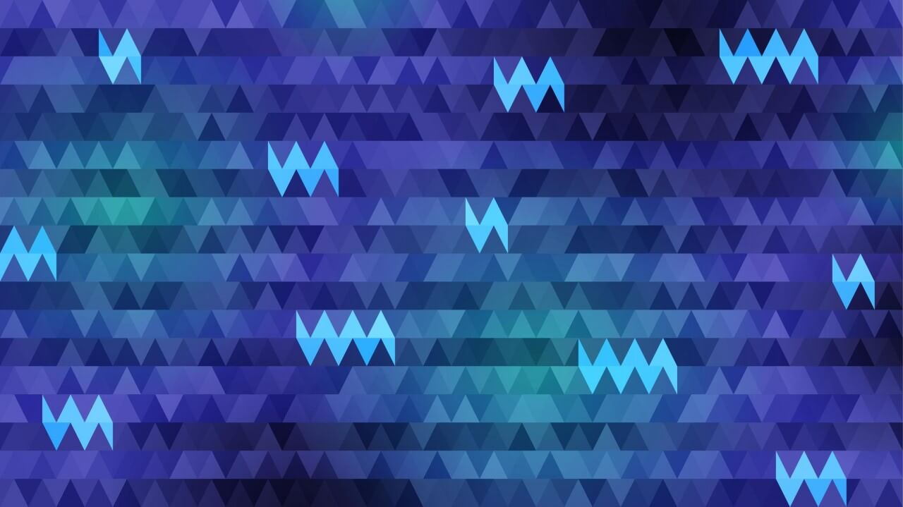 "Free vector ""Triangles in Shades of Blue"""