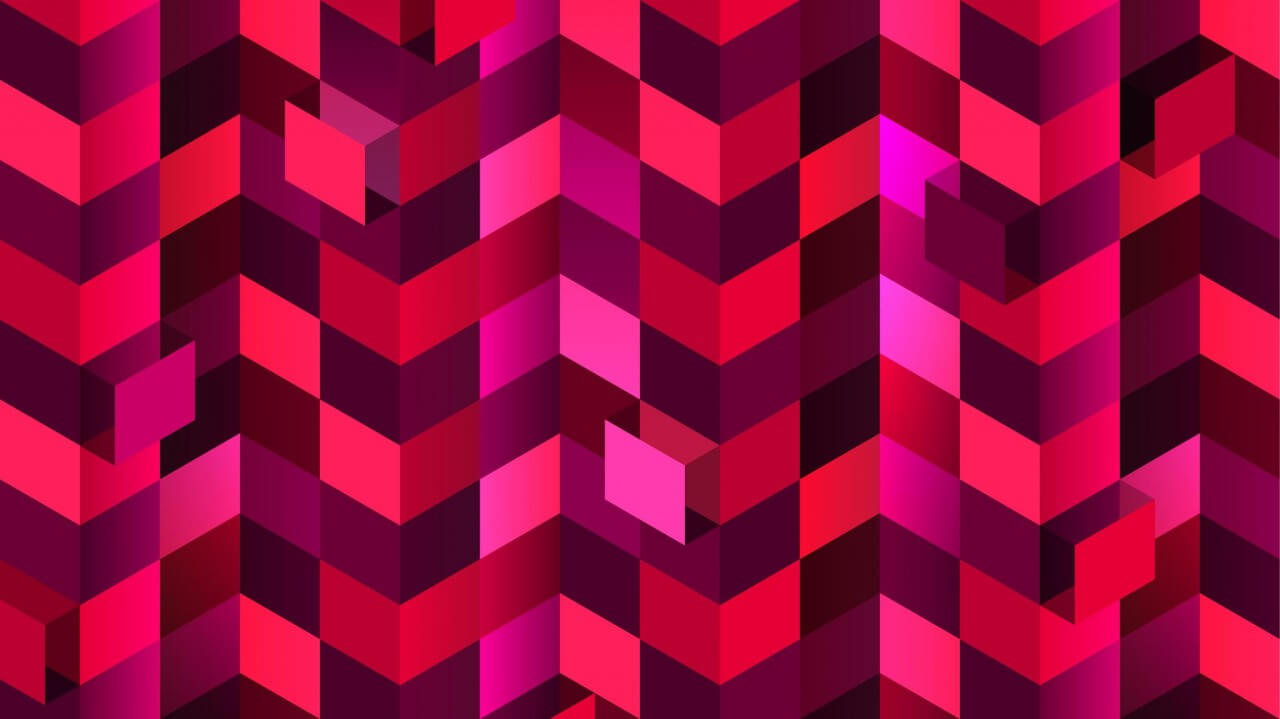 "Free vector ""Red Squares in Perspective"""