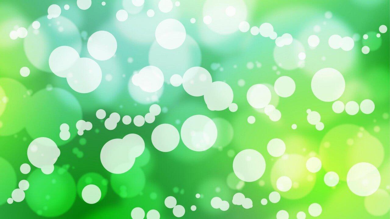 """Free vector """"Busy Green Bokeh"""""""