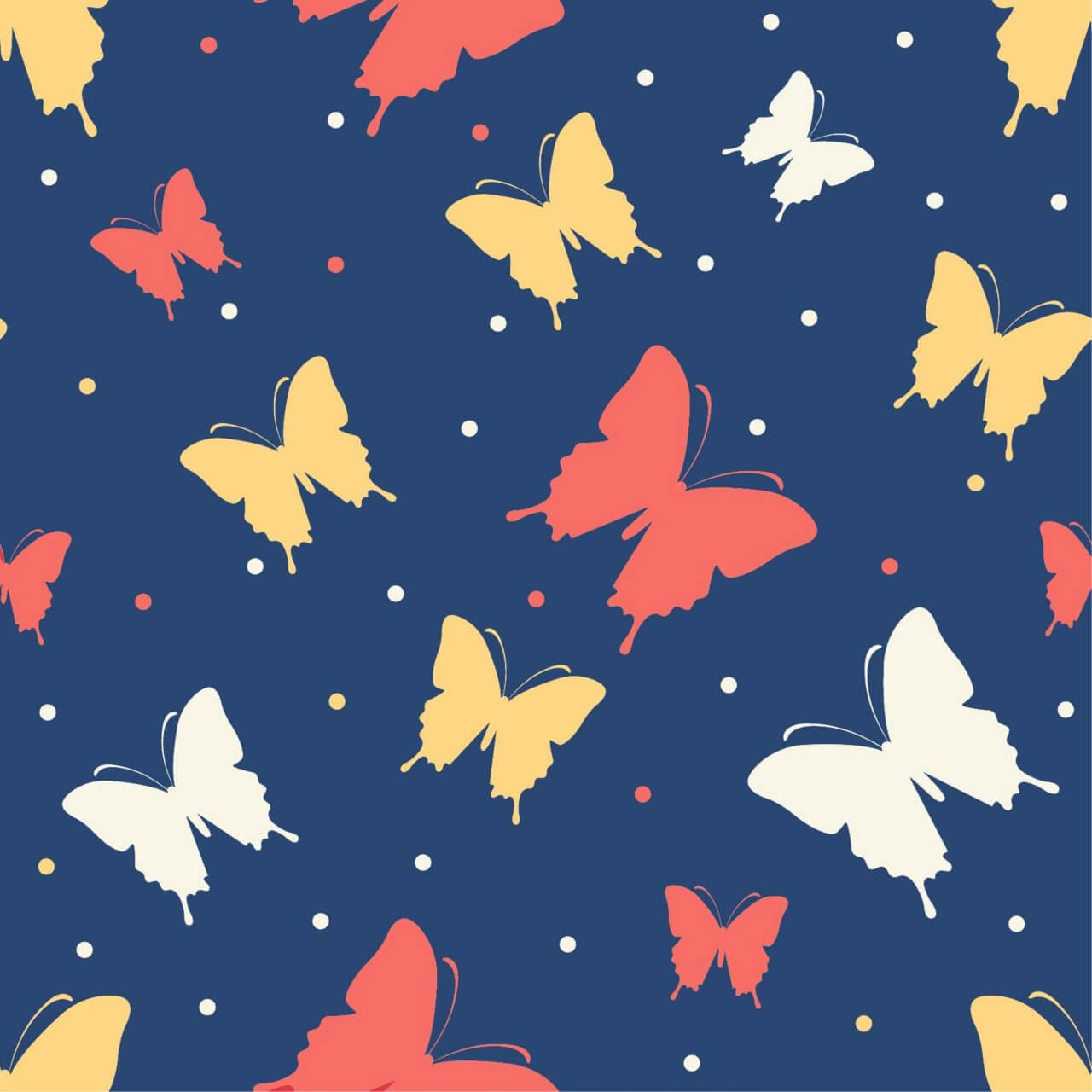 "Free vector ""Butterfly vector pattern"""