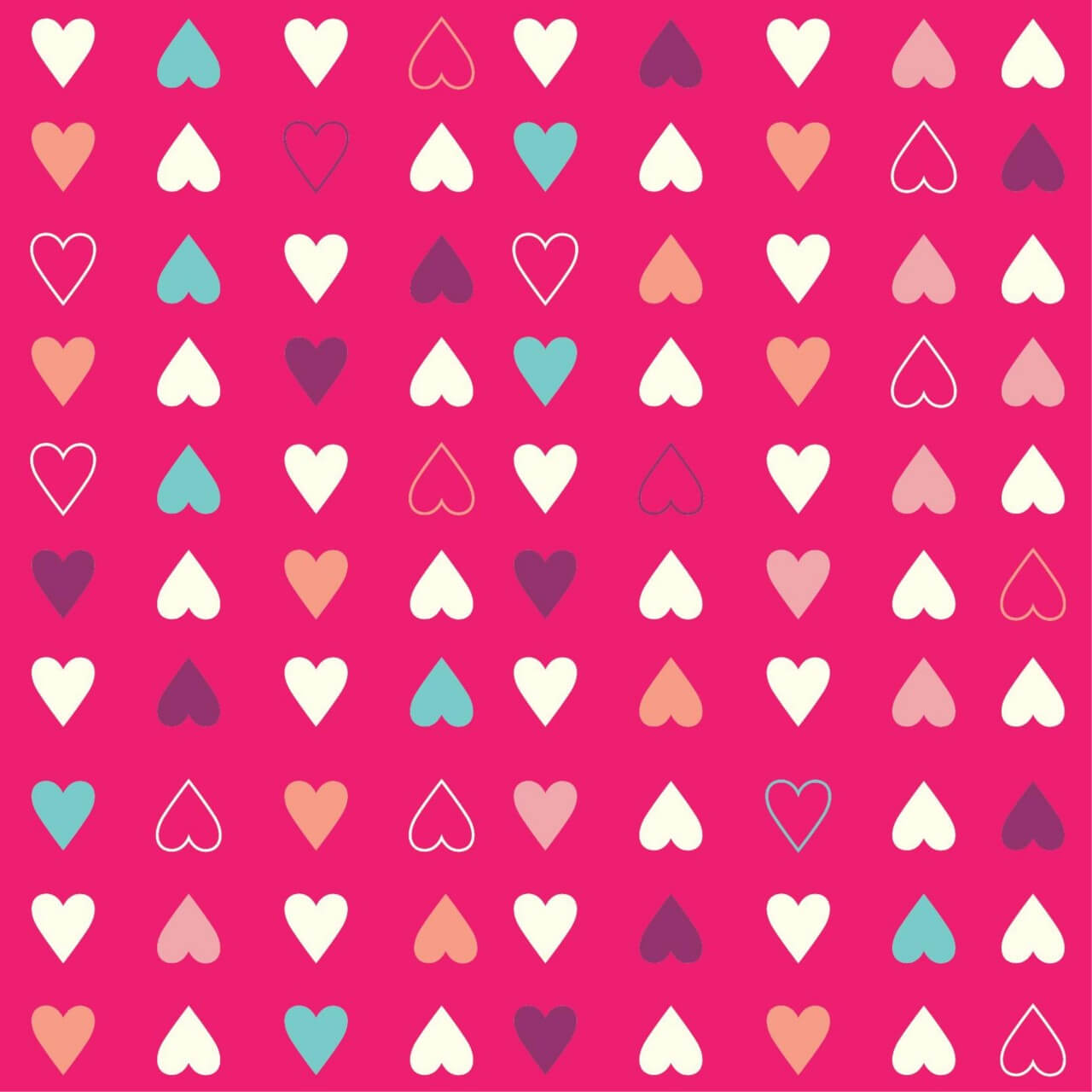 "Free vector ""Love pattern with hearts"""