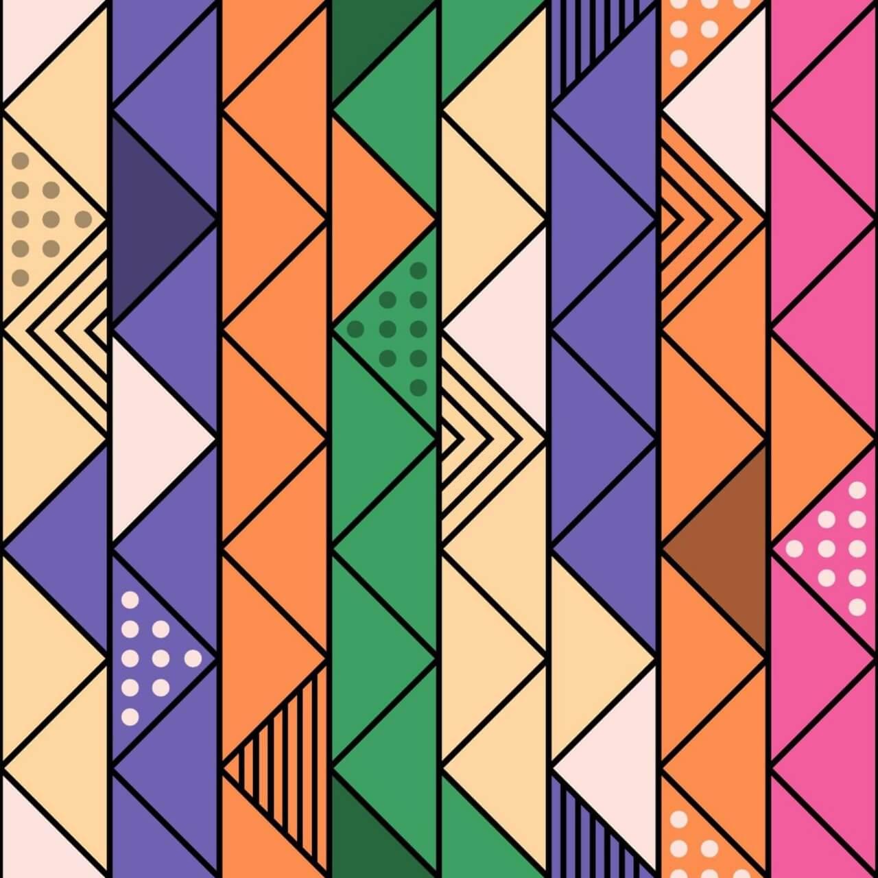 "Free vector ""Colorful Retro Line Pattern"""