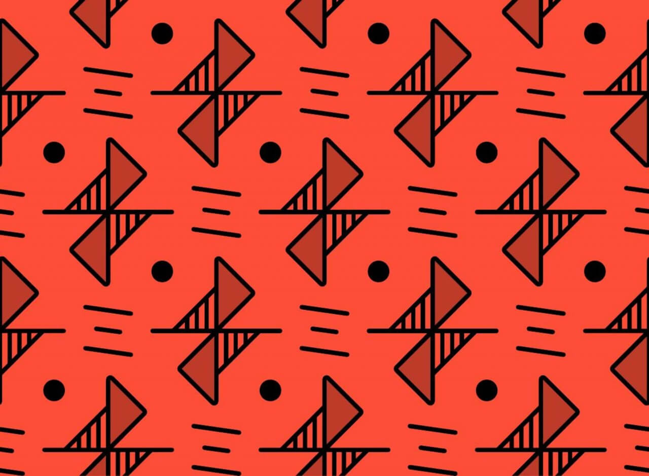 "Free vector ""Red Line Pattern"""