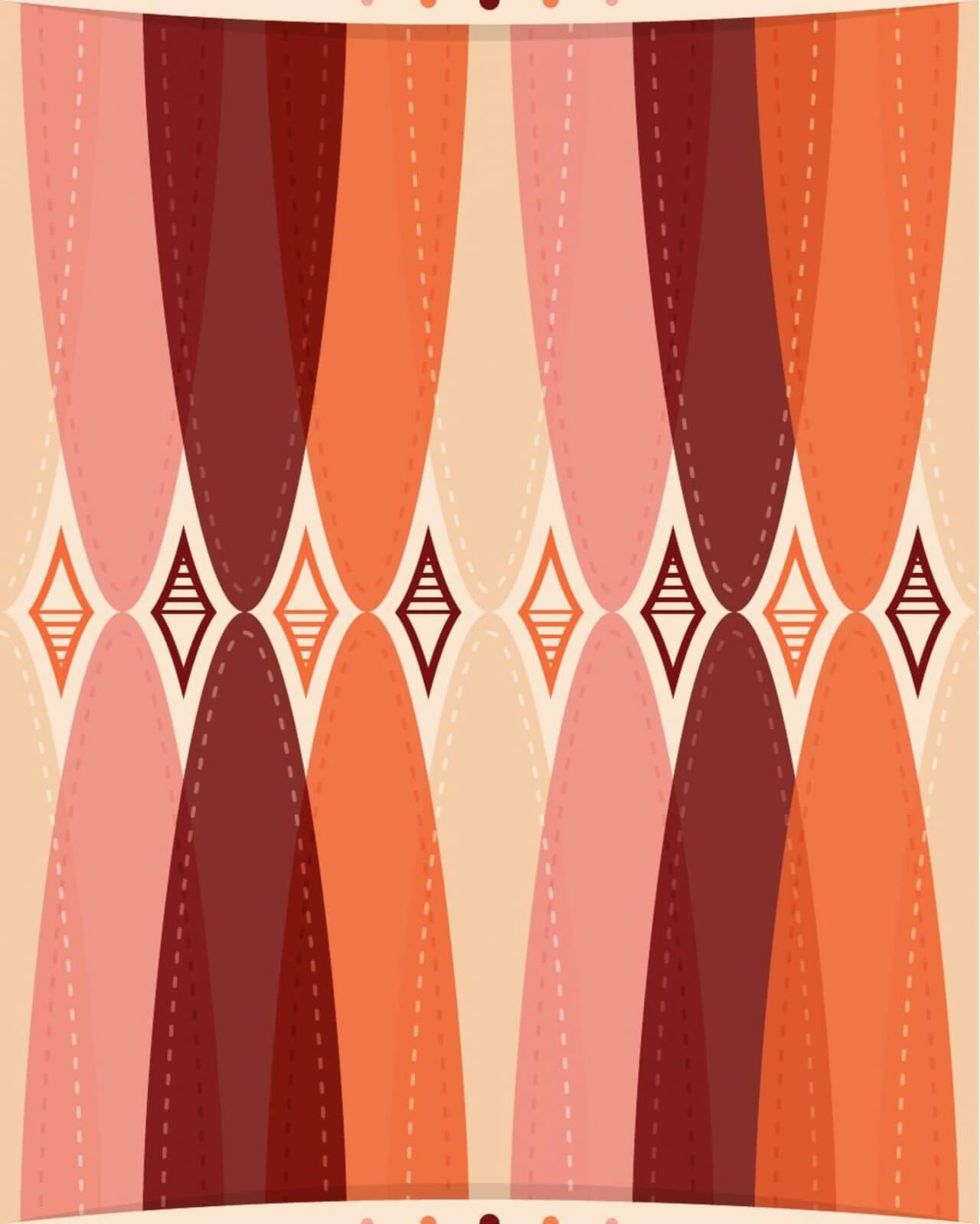 "Free vector ""Retro Wallpaper Pattern"""