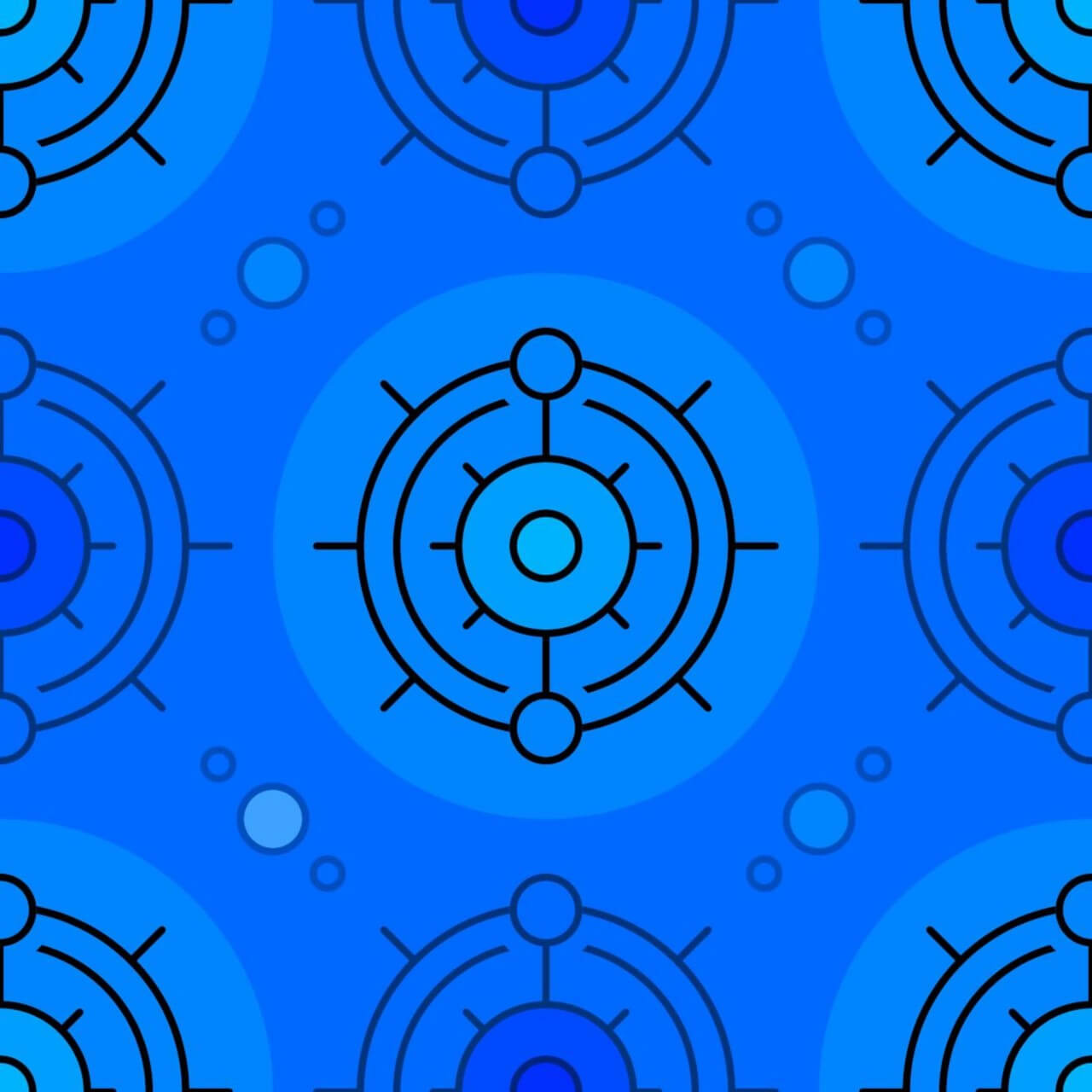 "Free vector ""Blue Circles Pattern"""