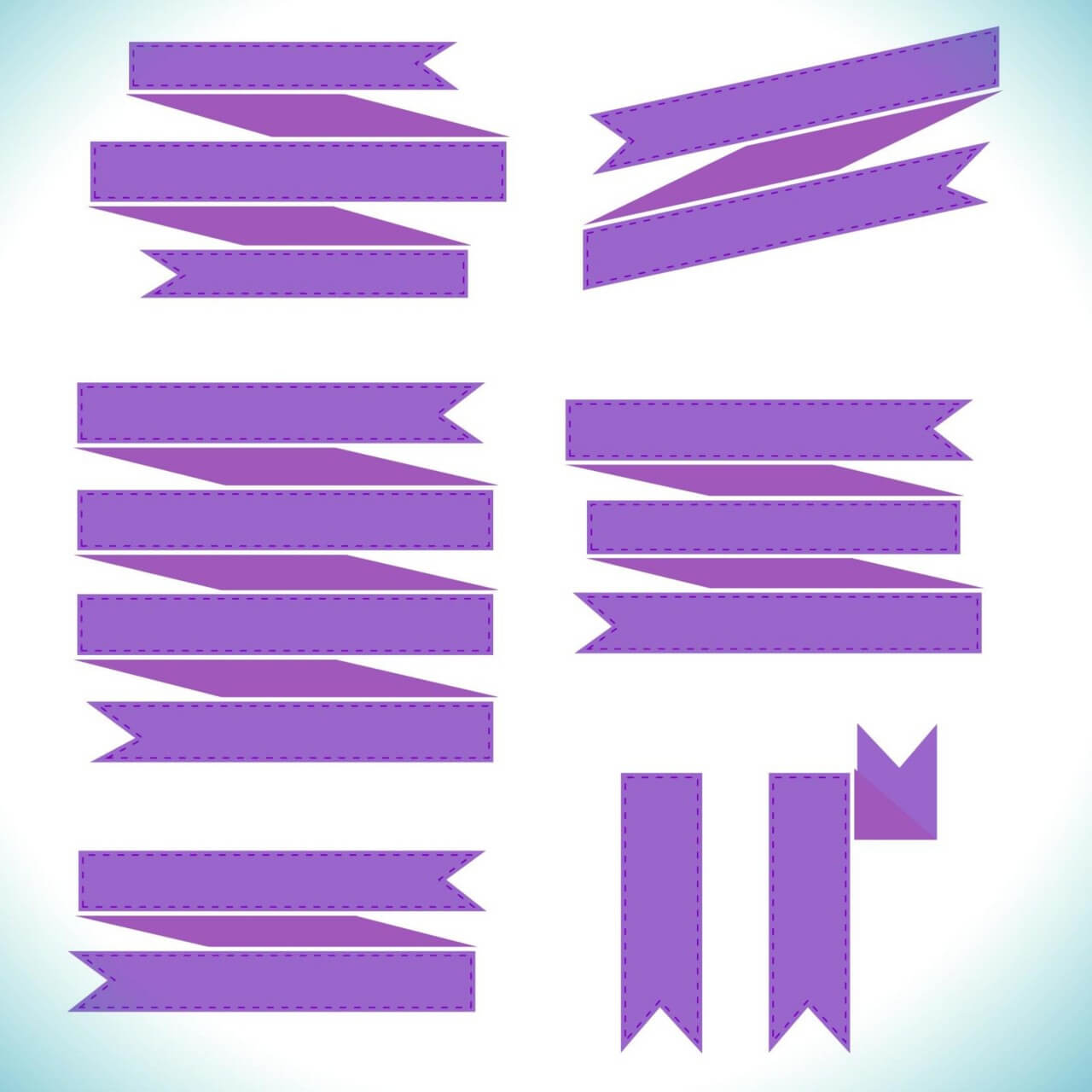 "Free vector ""Vector set of ribbons"""