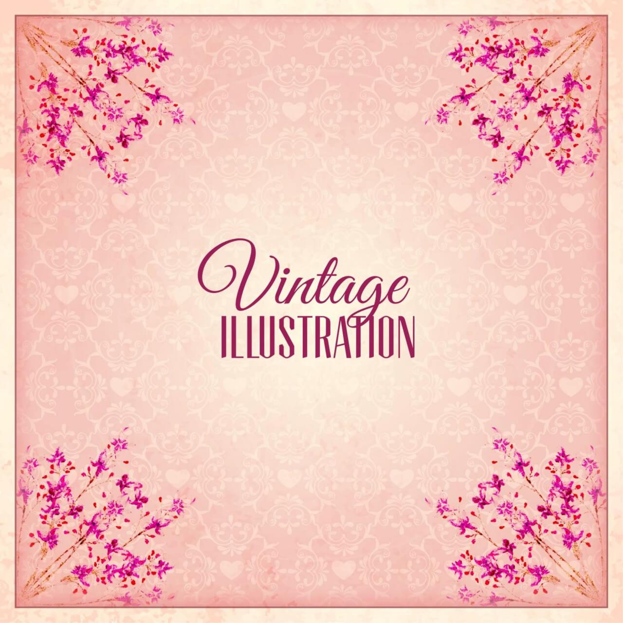 "Free vector ""Vintage flower illustration"""