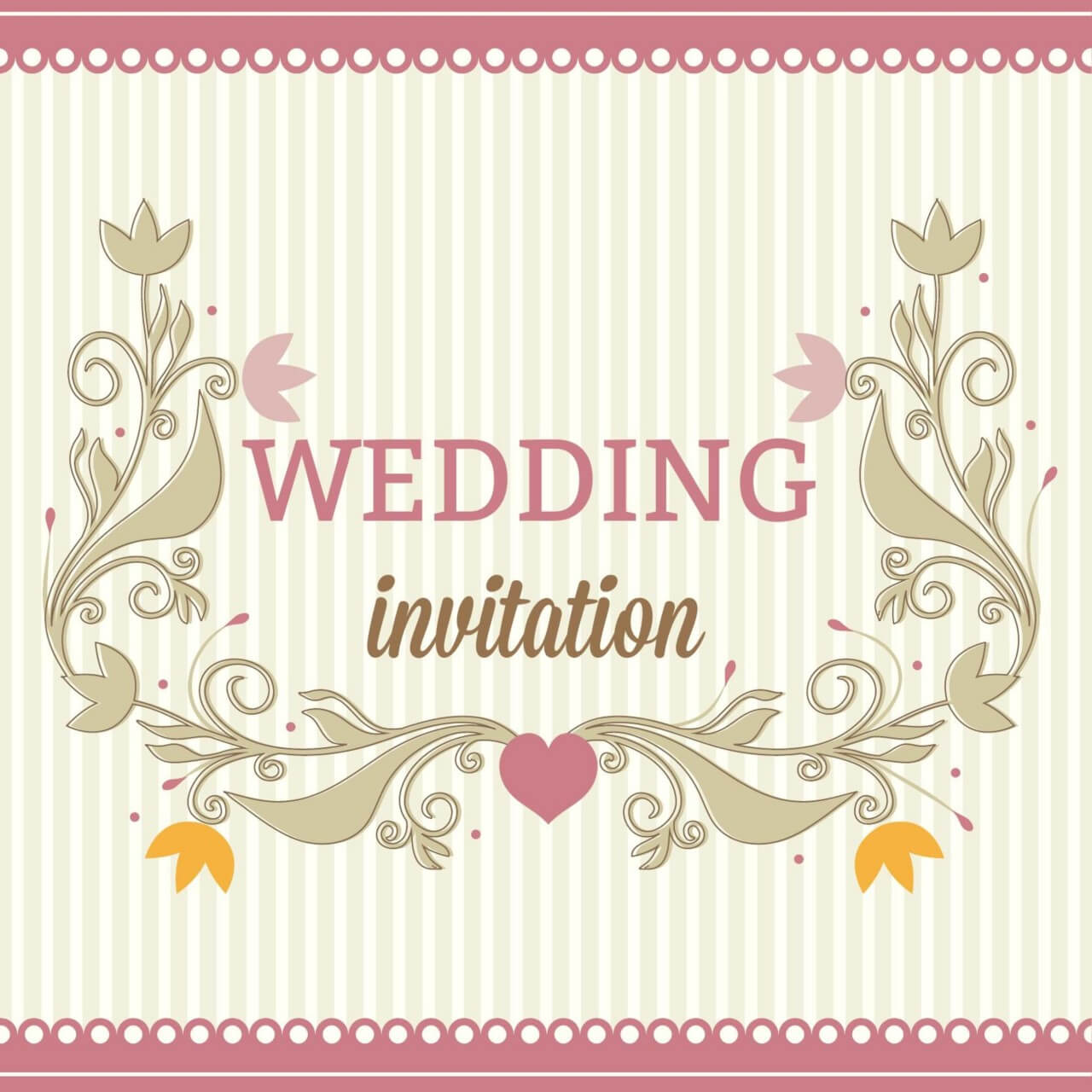 "Free vector ""Wedding vector illustration"""