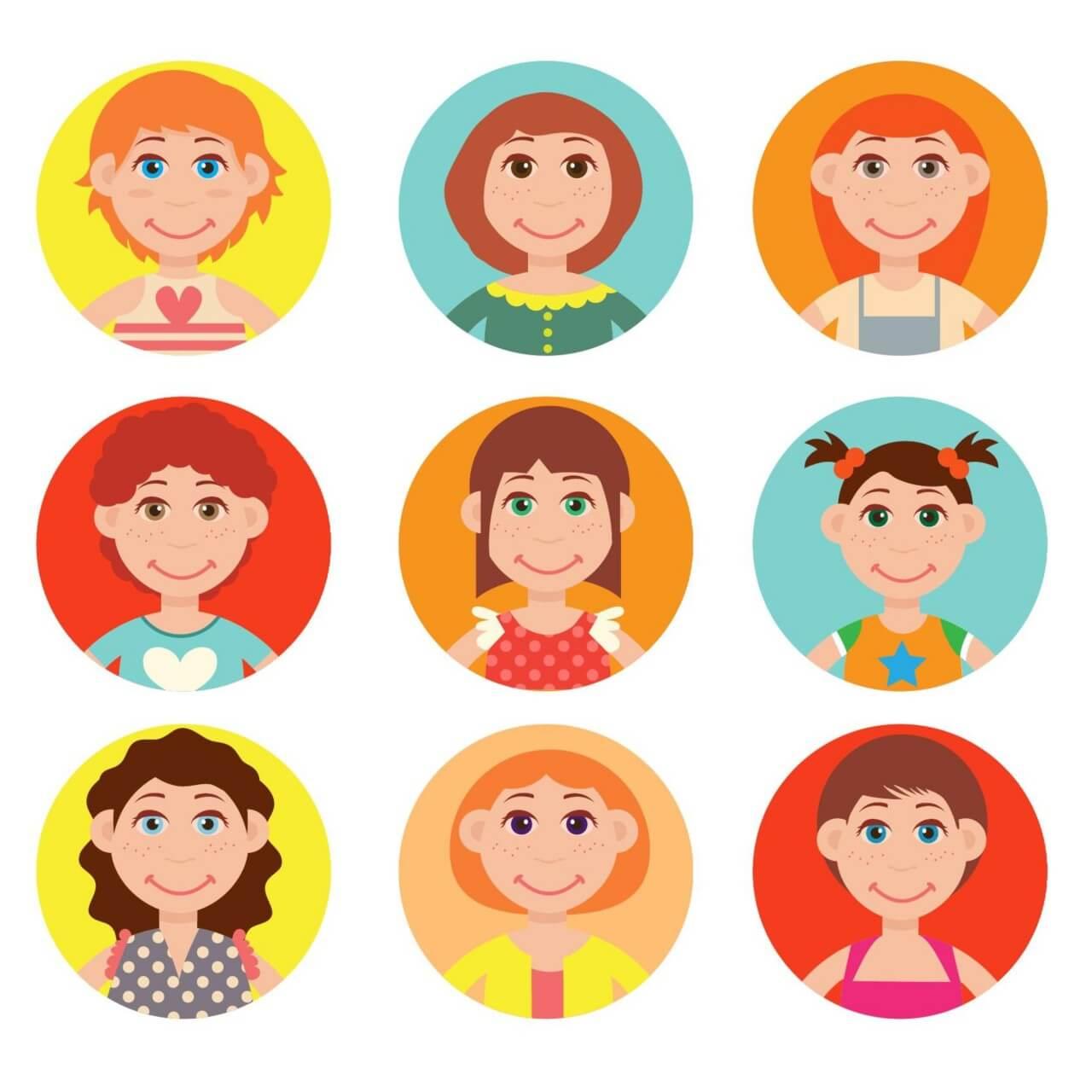 "Free vector ""Cute avatars vector set"""