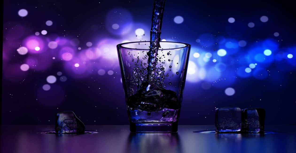 "Free photo ""Water Splashing in Drinking Glass"""