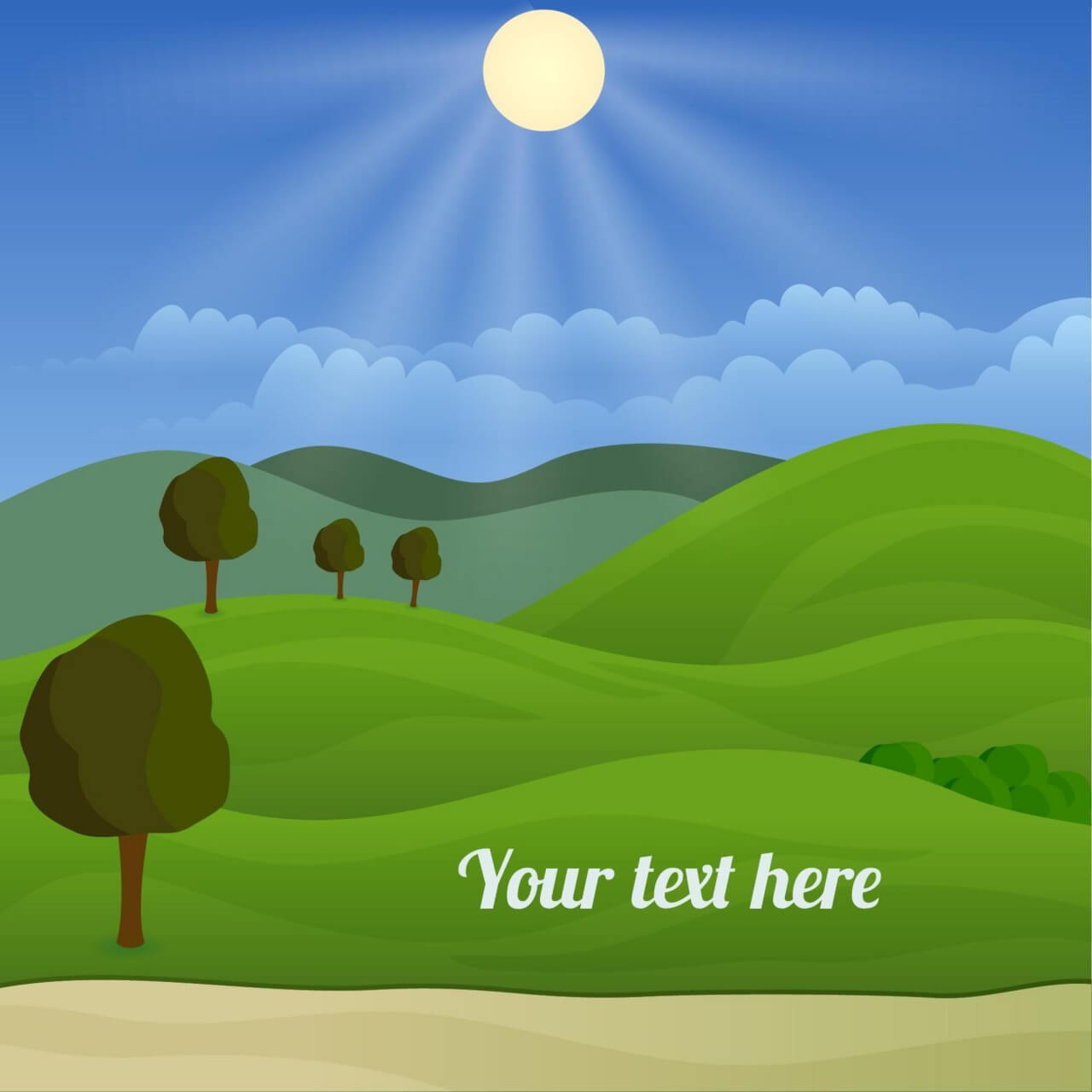 """Free vector """"Landscape illustration"""""""