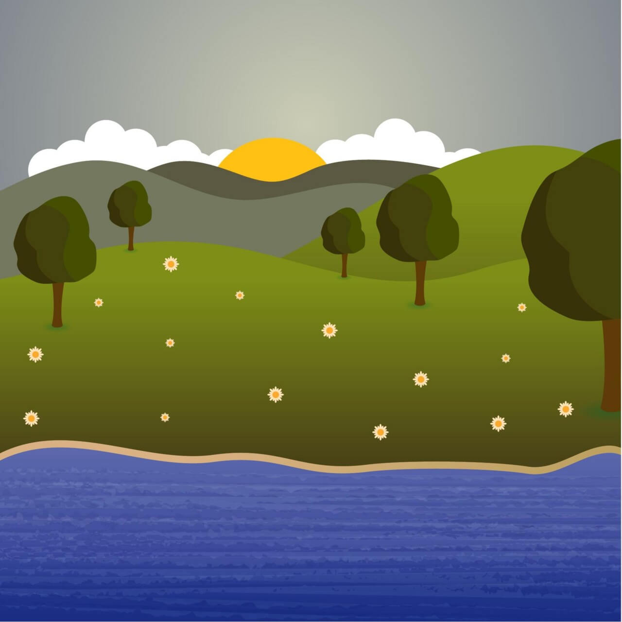 "Free vector ""Landscape illustration"""