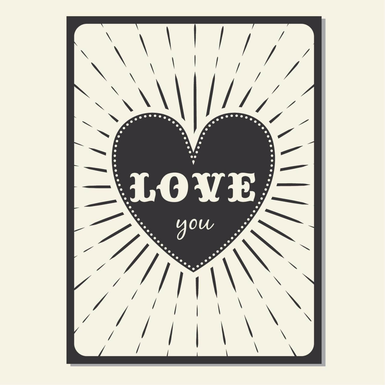 "Free vector "" Vintage vector poster with love typography"""