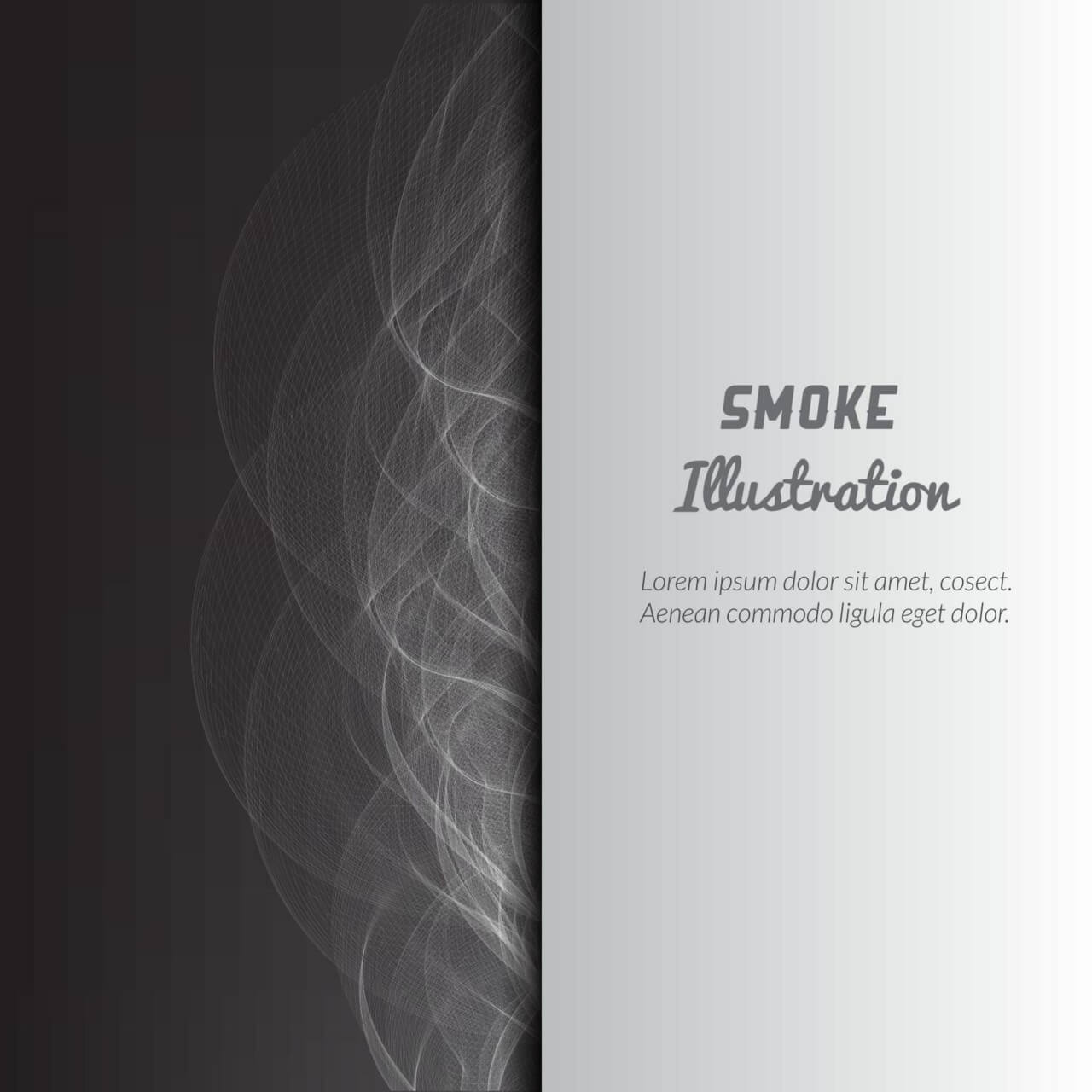 "Free vector ""Smoke vector illustration"""