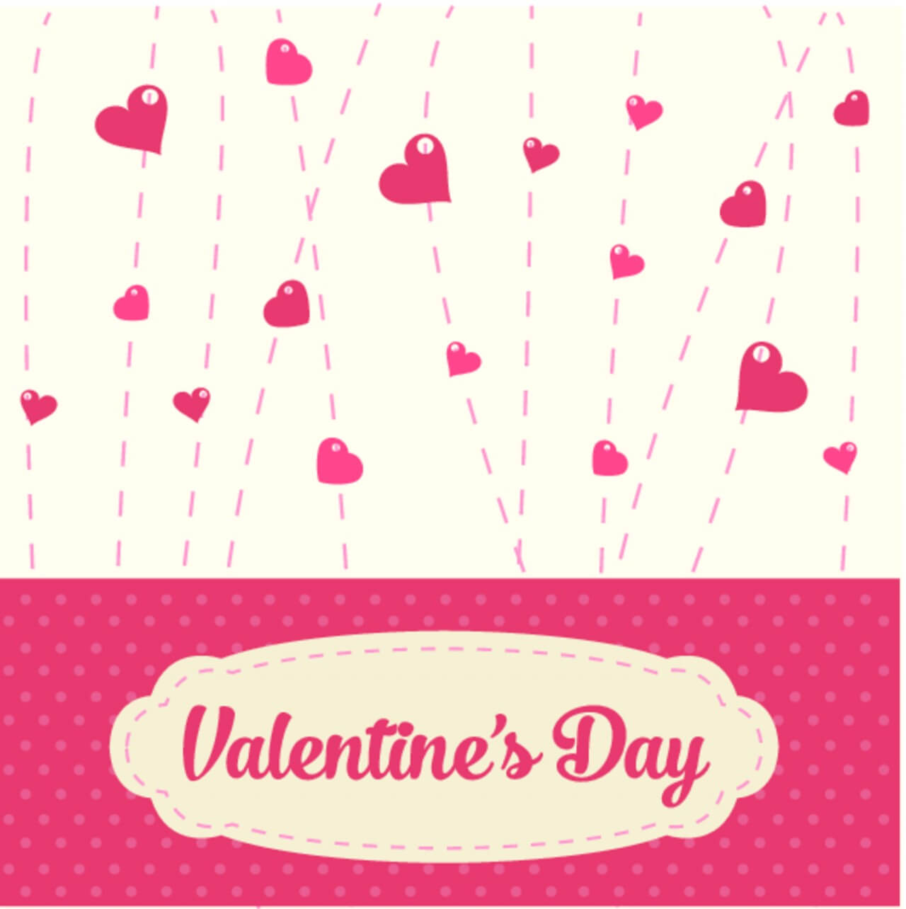 "Free vector ""Valentines Vintage Background"""